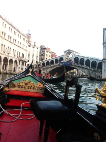 Gondola near Rialto Bridge